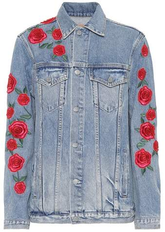 GRLFRND Daria embroidered denim jacket