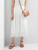 Gap Eyelet lace midi skirt