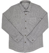 Il Gufo Checked Fine-Gauge Knit Cotton Button-Front Shirt-GREY