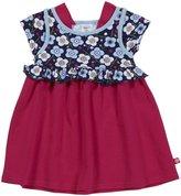 Zutano Blaue Blumen Ruffle Dress (Baby) - Navy-24 Months
