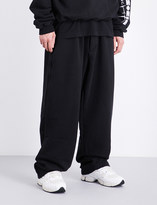 Vetements Logo-embroidered jersey jogging bottoms