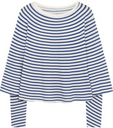 MM6 MAISON MARGIELA Striped Stretch-jersey Top - Blue