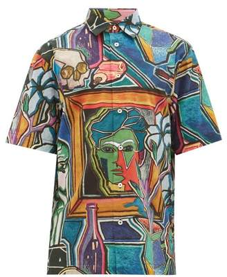 Paul Smith Artist-print Cotton Shirt - Mens - Multi