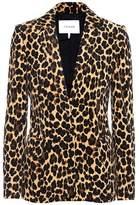 Frame Cheetah velveteen classic blazer