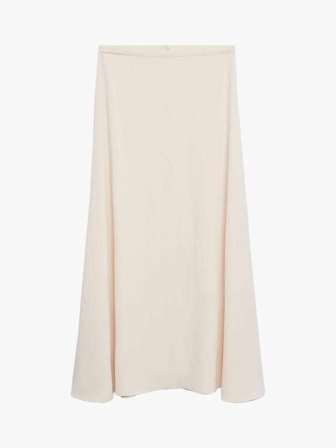 Thumbnail for your product : MANGO Flowy Maxi Skirt, White