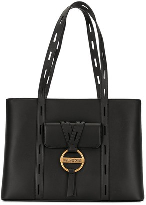 Love Moschino Cut-Out Handle Tote Bag