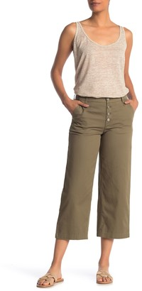 J.Crew Button Fly Wide Crop Twill Pants