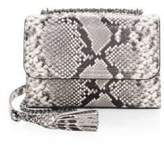 Tory Burch Fleming Snake-Print Crossbody Bag