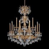 Schonbek Milano 15-Light Candle Style Tiered Chandelier Finish: Heirloom Bronze, Crystal Type: Optic Clear
