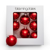 Bloomingdale's Set of 8 Shiny Red Ornaments - 100% Exclusive