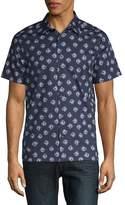 Perry Ellis Men's Rose Button-Down Shirt