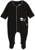 Karl Lagerfeld Front-Snap Footie Pajamas w/ Pockets, Size 3-12 Months