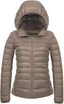 CHERRY CHICK Women's Packable Down Jacket Dark Green