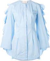 Sara Battaglia ruffle sleeved shirt