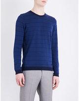 Armani Collezioni Checked silk-blend jumper