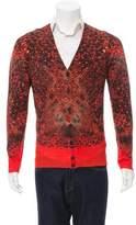 Alexander McQueen Snake Print Wool Cardigan w/ Tags
