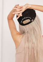 Missguided Becky With The Good Hair Suede Cap Black