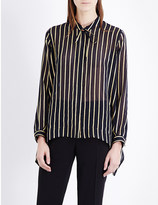 Etro Striped silk and metallic-blend shirt