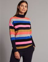 Marks and Spencer Cashmere Rich Colour Block Turtle Neck Jumper