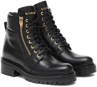 Balmain Army leather combat boots