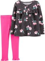 Carter's Baby Girl Floral Jersey Top & Legging Set