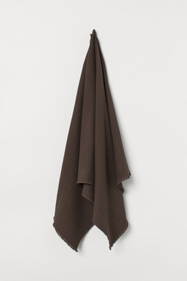 H&M Waffled Bath Towel - Brown