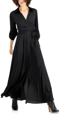 INC International Concepts Inc Belted Maxi Shirtdress, Created for Macy's