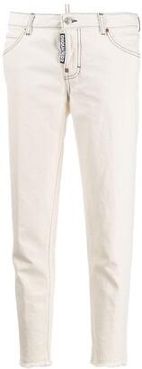 DSQUARED2 Frayed Hem Jeans