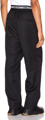Ambush Logo Elastic Pants in Black | FWRD