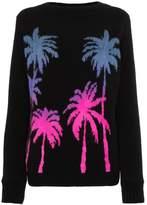 The Elder Statesman palm motif jumper