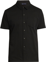 Lanvin Button-front cotton-piqué polo shirt