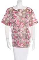 Matthew Williamson Rose Jacquard Top