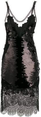 Ermanno Scervino sequinned lace shift dress
