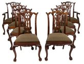 Maitland-Smith Set of Eight Dining Chairs