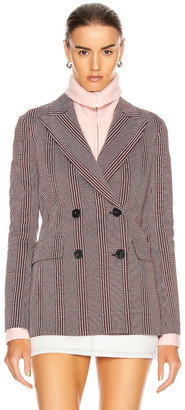 Rosetta Getty Double Breasted Lapel Jacket in Red & Black | FWRD