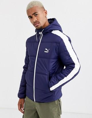 Puma padded jacket in navy