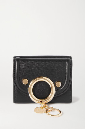 See by Chloe Mara Mini Embellished Textured-leather Wallet - Gray