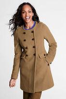 Women's Luxe Wool Scoopneck Coat