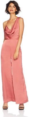 Keepsake Women's Romance Asymmetric Sleeve Jumpsuit