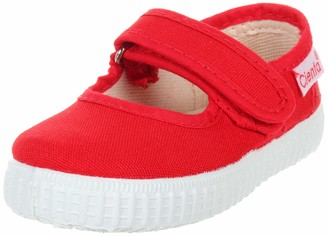 Cienta Mary Jane Sneakers for Girls Red Casual Shoes with Adjustable Strap 19 EU (3.5 M US Toddler)