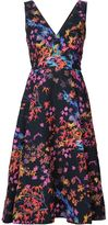 Saloni floral print dress - women - Polyester/Polyimide - 4