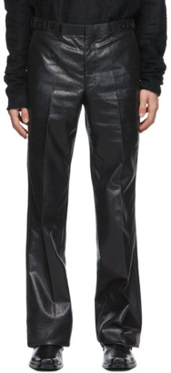 John Lawrence Sullivan Black Side Strap Trousers