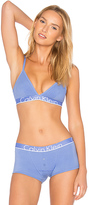 Calvin Klein Underwear ID Cotton Triangle Bra in Blue. - size L (also in M,S)