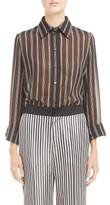 Lanvin Women's Stripe Silk Georgette Blouse
