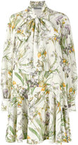 Alexander McQueen wild iris print dress - women - Silk - 38