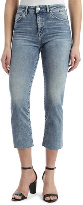 Mavi Jeans Niki Raw Hem Straight Crop Jeans