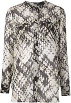 Vince weave print blouse