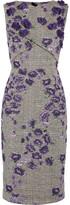 Jason Wu Floral-appliquéd Cotton-blend Jacquard Dress