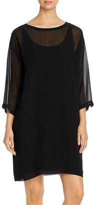 Eileen Fisher Sheer Silk Layered Dress
