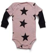 Nununu Star Onesie in Powder Pink